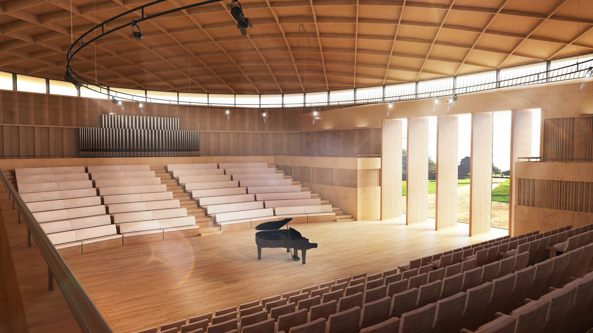 Artist's impression of the new school hall