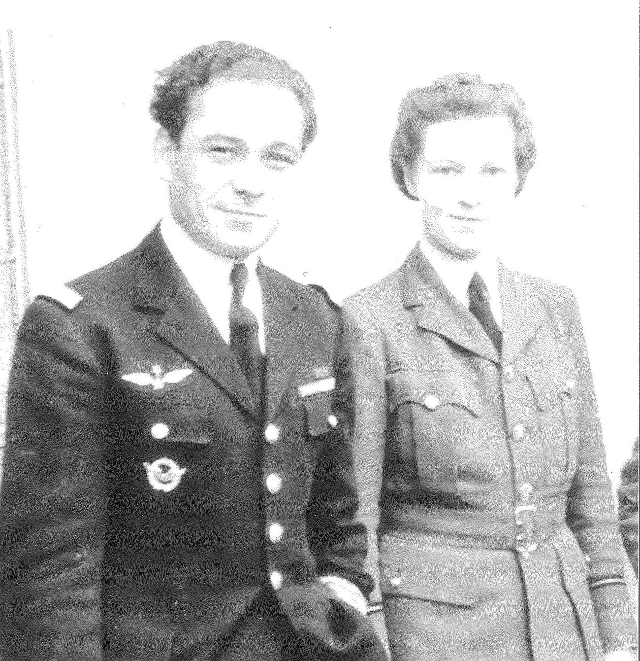 Capitaine Jean Maridor with his fiancee Jean Lambourn