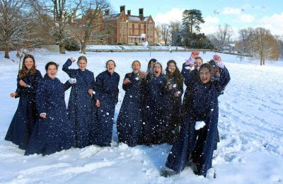 Choir in snow
